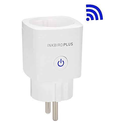 Inkbird INK-WP02 WLAN Steckdose,Intelligente WiFi stecker mit Timer funktion and Fernbedienbar Sprachsteuerung, Kompatibel mit Alexa und Google Home,Nur auf 2.4 GHz Netzwerk,16A Stromverbrauch(1 PACK)