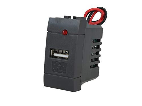 Lot Stock 5 pièces prise USB simple encastrable mur compatible modèle Bticino Living Light alimentation exercice Batterie Android iOS Recharge