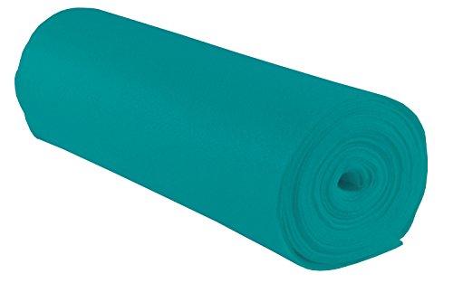 folia 520032 - Bastelfilz, mit feiner Wollqualität, 1 Rolle ca. 45 cm x 5 m, pazifik, klebefleckenfreie Verarbeitung - ideal für vielfältige Bastelarbeiten