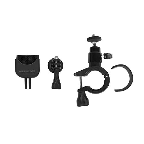 Ranoff Adapter & Bicycle Clip Gimbal Handle Bicycle Holder Bracket Clamp Clip Bike Mount for DJI OSMO Pocket (Black)