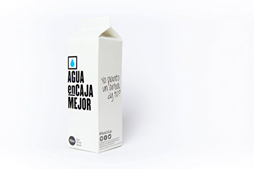 Agua enCaja Mejor Caja de 24 unidades de 500ml - Agua Mineral Natural de calidad Premium. Envase de cartón 94% origen Vegetal. 100% Reciclable
