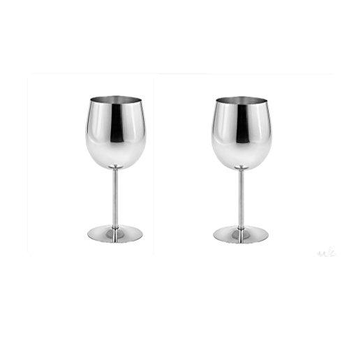 Baoblaze Vasos de Champán de Copa de Vino Tinto de Acero Inoxidable de 2 Piezas, Vasos para Beber