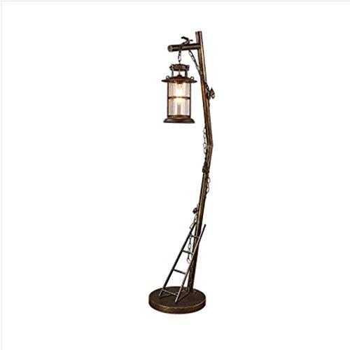 FAFZ bedlampje LOFT creatieve slaapkamer staande lamp American Retro industriële stijl smeedijzer restaurant hotel verticale lamp verticale staande lamp