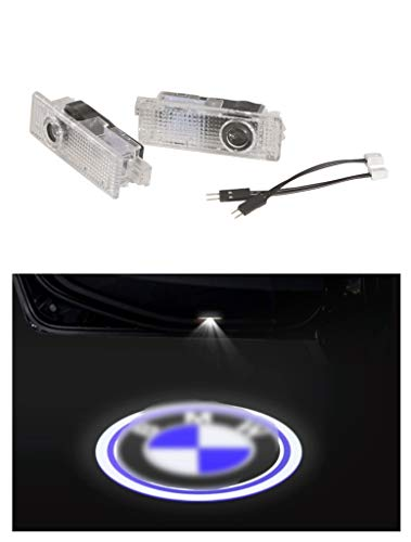 SYmbiosis - 2 luci LED di benvenuto HD per portiera auto, proiettore ombreggiante fantasma, ideale per BMW