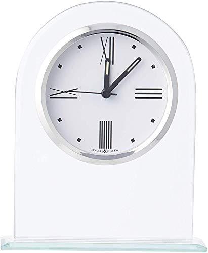 Howard Miller Regent Table Clock 645-579 – Modern Glass Arch with Quartz Alarm Movement