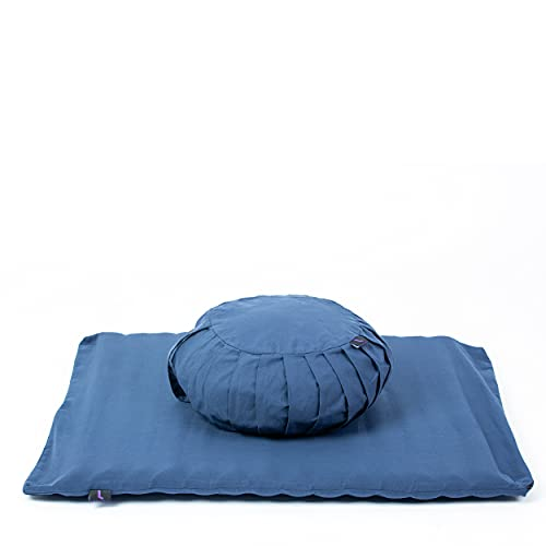 Leewadee Meditation Cushion Set Cover Removable and Washable Round Zafu Pillow and Large...
