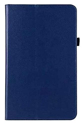 Accesorios De Pestañas para Samsung Galaxy Tab a 10.1 2016 T580 T585 SM-T580, Cubierta Plegable De Cuero Flip Funda para La Pestaña Galaxy a 10.1 (Color : Dark Blue)
