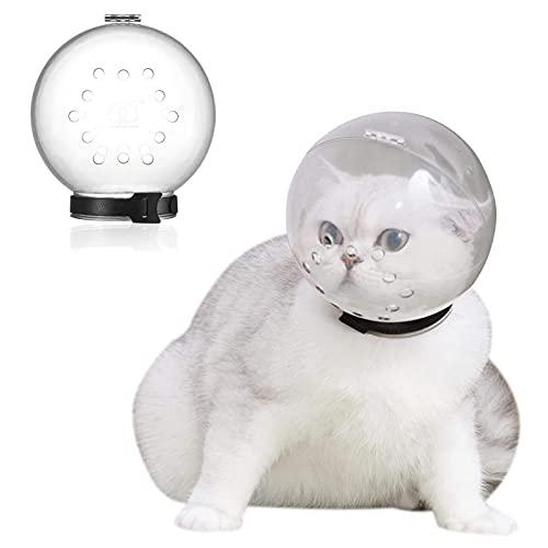 Bozal de Gato Transpirable, Funda Transparente para la Boca de Gatito para Mascotas, Mascarilla de Aseo de baño Anti-mordida, Bozal de protección Anti-lamido para Gato