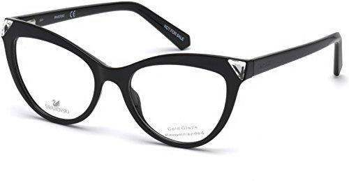 Swarovski montature occhiali da vista donna cat eye black SK5268 001