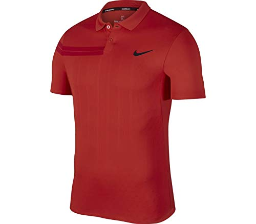 Nike Court Zonal Cooling RF Advantage - Polo de tenis para hombre, color rojo
