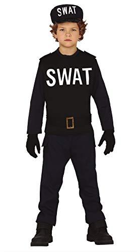 FIESTAS GUIRCA Disfraz swat policia Americano Infantil Talla 10-12 aos