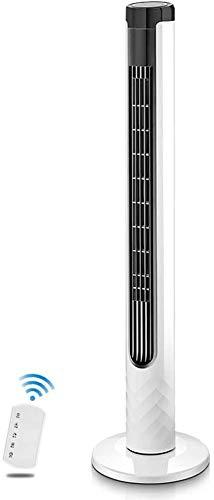 Enfriadores evaporativos 41 'Ventilador de la torre tranquila, ventilador de enfriamiento de control remoto con 3 modos y 3 velocidades, ventilador de pie oscilante sin incansables con temporizador di