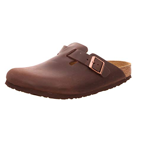 Birkenstock Boston Oiled Leather Habana Sandali Marroni-UK 8 / EU 42