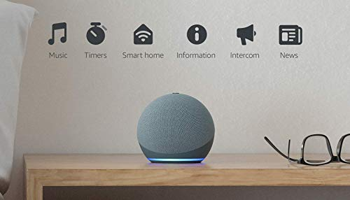 All-new Echo Dot (4th Gen) | Smart speaker with Alexa | Twilight Blue