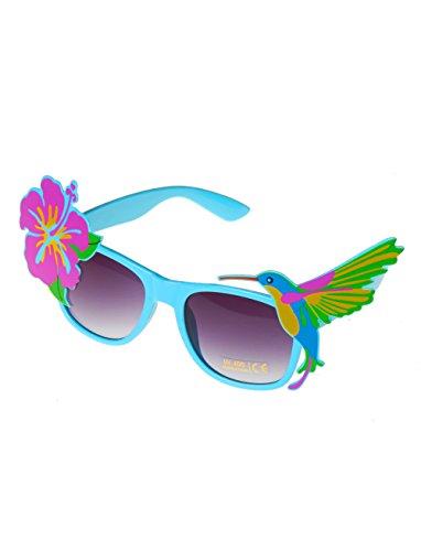 Deiters Brille Hawaii mit Blüte und Kolibri