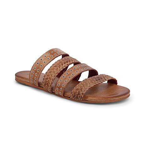 Bed|Stu Women's Henna Leather Sandal (Tan Rustic, Size 6)