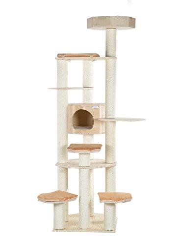 Armarkat Luxus Kratzbaum S9201G aus Echtholz 208 cm hoch