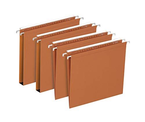 Elba - 400126812 Cartelle Sospese per Cassetto, Interasse 39, Fondo U, 30 mm, Formato Esterno 37.1 x 24, Arancio, Confezione da 25 Pezzi