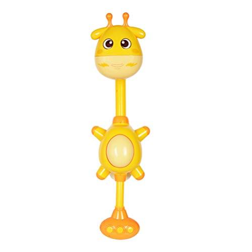 NUOBESTY Kinder Duschkopf Bad Spielzeug Cartoon Giraffe Wasserfluss Spray Duschkopf Baby Kinder Kleinkind Bad Spielen Badespielzeug ohne Batterie