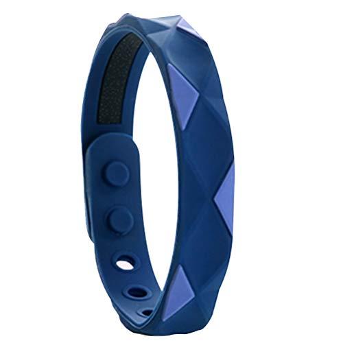 Spier - Braccialetto antistatico regolabile in silicone, per donne, uomini, bambini e anziani, colore: blu