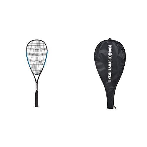 Unsquashable Squashschläger Inspire T-3000, Double-Strining, Graphit-Composite-Schläger, 296097 & 3/4 Squash-Schlägerhülle, 299998