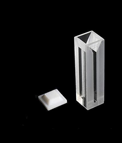 Azzota 10mm Pathlength Fluorometer Cuvette - 0.70ml Quartz, Four (4) Sides Clear