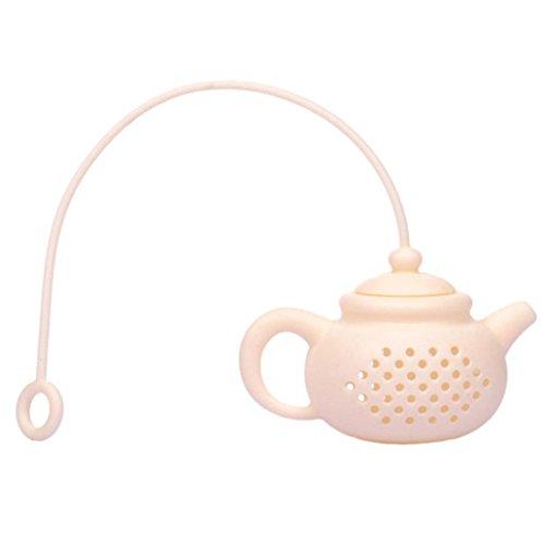kangql teapot-shape teiera infusore colino in silicone filtro diffusore Tool White
