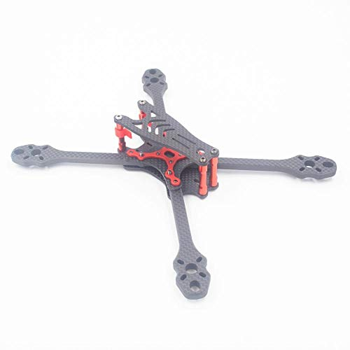 HUANRUOBAIHUO 6mm Carbon Fiber 5/6/7inch FPV Freestyle Stretch X Quadcopter Frame kit RC Drone Quadcopters Accessories (Color : 215mm(5inch) Frame)