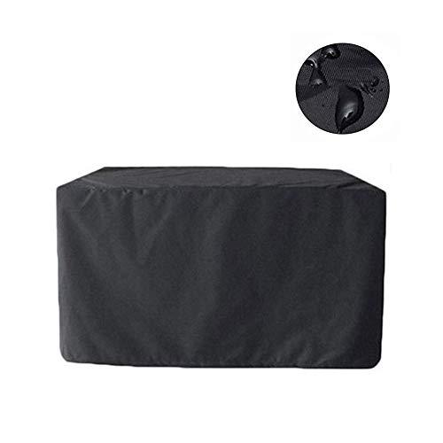 NINGWXQ Covers for Garden Furniture Stof van Oxford Outdoor Sofa Covers Waterproof Duurzame Tuin tafel dekken, Zwart, Meerdere Maten (Color : Black, Size : 160x160x80cm)
