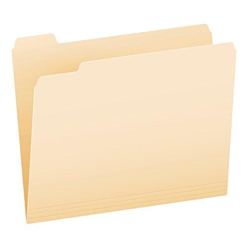 Pendaflex Essentials File Folders, Letter Size, 1/5 Cut, Manila, 100 per Box (752 1/5)