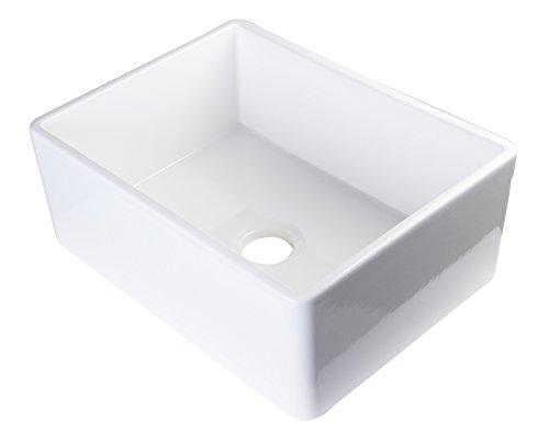 ALFI brand AB505-W 26-Inch Contemporary Smooth Fireclay Farmhouse Kitchen Sink, White