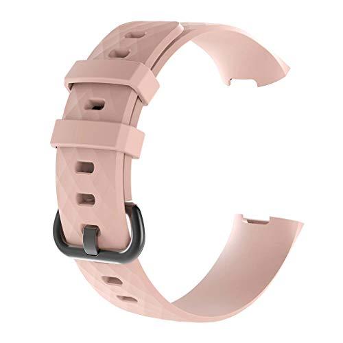 DALIN Für Fitbit Charge3 / 3SE / 4 / 4SE Smart Armband, strukturiertes Silikonband