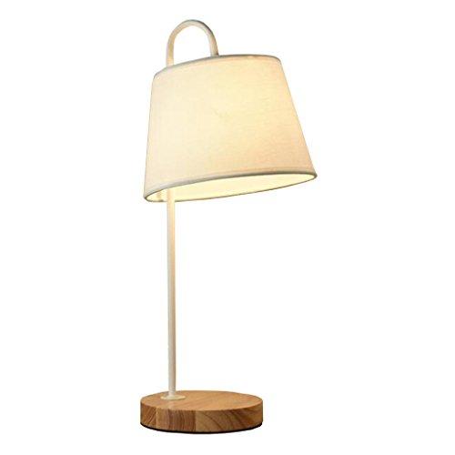 Lampes de table Creative en Bois Tissu Salon Chambre Chevet Table Lampe Nordique Bois Lumière Décorative Bois Lumière A+