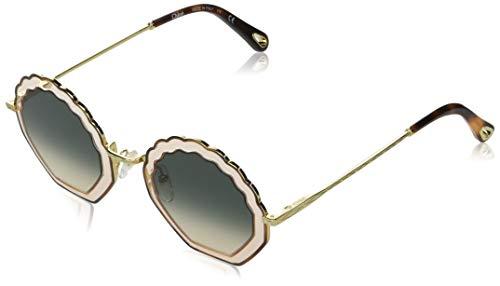 Chloe Damen Ce147s Sonnenbrille, Havana Rose/Gradient Green, Standard