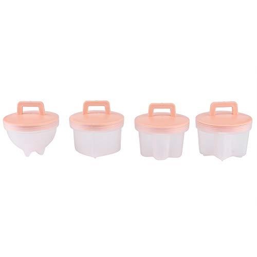 YIHEXUANkeji 4 piezas de plástico para cocinar huevos con cepillo de aceite, utensilios de cocina, utensilios de cocina para huevos, taza de pudín (2 unidades)