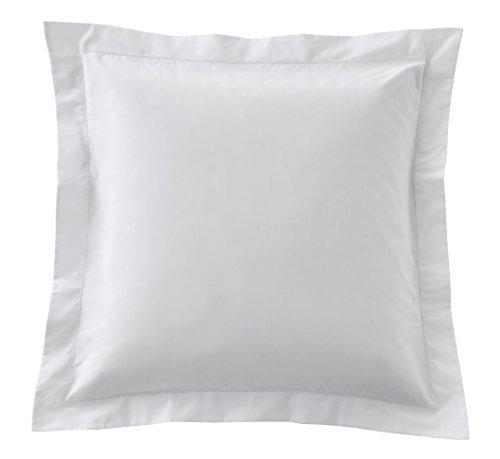 Blanc des Vosges Taie Carree Marquise Blanc 65 x 65 cm - Percale 100% coton