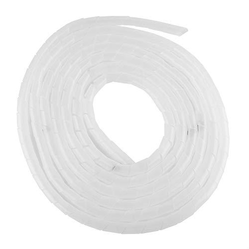 Organizador de alambre en espiral, longitud ajustable, flexible, retardante de llama, enrollado...