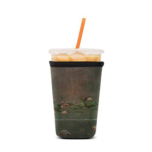 WILSLAT Wiederverwendbare Isolierhülle für Eiskaffeetassen, für kalte Getränke und Neopren-Halterung für Starbucks Kaffee, McDonalds, Dunkin Donuts