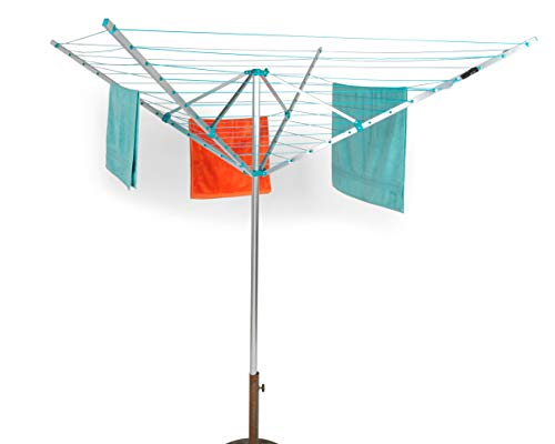Beldray LA031198TQ Outdoor Clothes or Garment, 50 Metre Drying Space, Holds up to 20 KG, Steel, Rotary Airer