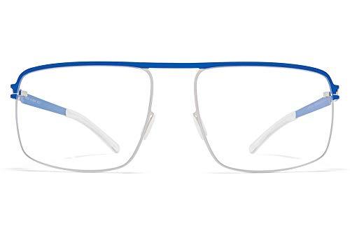 Mykita Brille Brillenfassung STEVAN 395 Shiny Silver/Yale Blue (56-17)