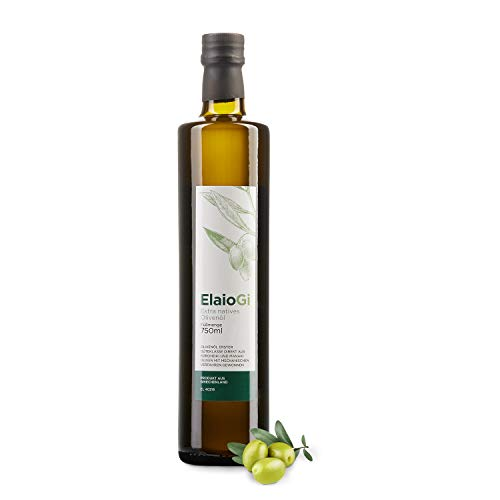Griechisches Olivenöl ElaioGi 0,75l Flasche   Extra natives Olivenöl   Kaltgepresst   Tradition seit 1960   Mildes Olivenöl aus Peloponnes   PROBIERPREIS
