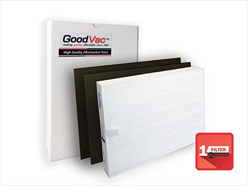 GoodVac Filter Sharp FP-A60UW FP-A80UW Air Purifier Replacement Filter and 2 Carbon Pre-Filters Replaces FZ-A60HFU FZ-A80HFU