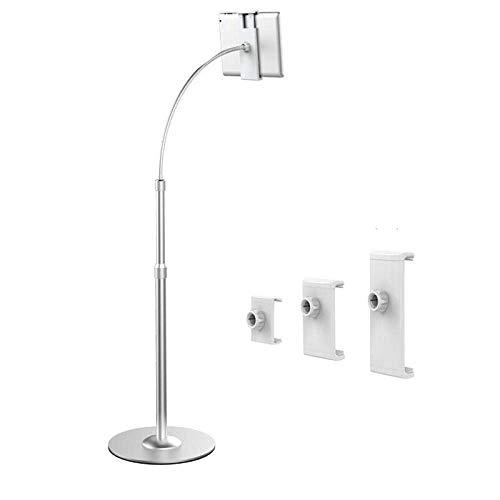 Soporte para tableta plegable ajustable de aleación de aluminio plateado, altura ajustable...
