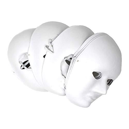 Gesichtsmaske aus Pappmaché, inkl. Gummiband, 10 Stück