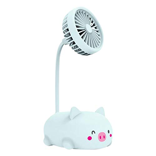 Lowest Prices! Toimothcn Mini Fold Fan Personal Portable Desk Desktop Cooling Electric USB Fan(2-Blu...