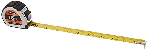 Short Tape Measure with Nylon Coated Steel Blade (Graduations: ft., 1/10, 1/100), 1-Inch by 16-Foot - Keson PG1016