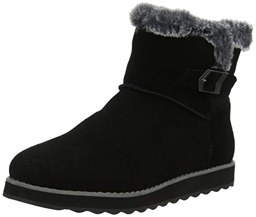 Skechers Damen Keepsakes 2.0 Kurzschaft Stiefel, Schwarz (Black Suede Blk), 39 EU