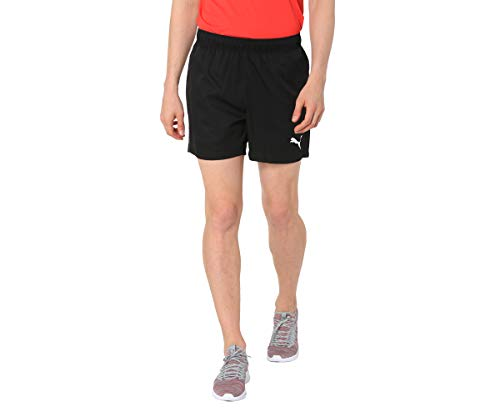 PUMA Active Woven Short 5` Pants, Hombre, Puma Black, L