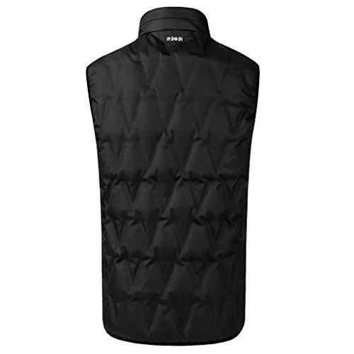 Dasongff elektrisch verwarmd vest wasbaar USB-lader verwarming kleding winter warm vest verwarmde jas wintervest voor koude outdoor-activiteiten wandelen skiën vissen