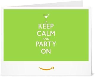 Cheque Regalo de Amazon.es - Imprimir - Keep Calm and Party On
